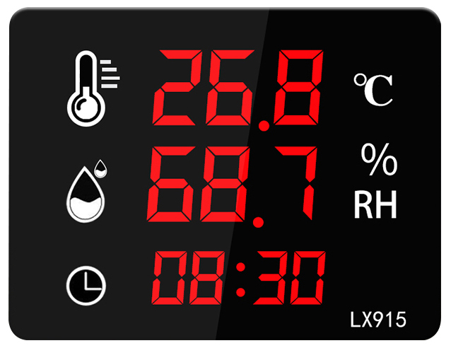 Industrial Wall Mount LED Display Hygrometer