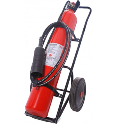 Carbon Dioxide Fire Extinguisher On Trolley