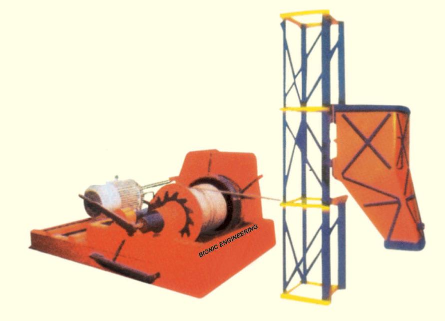 Tower Winch Machine 15 C.F.T. Capacity