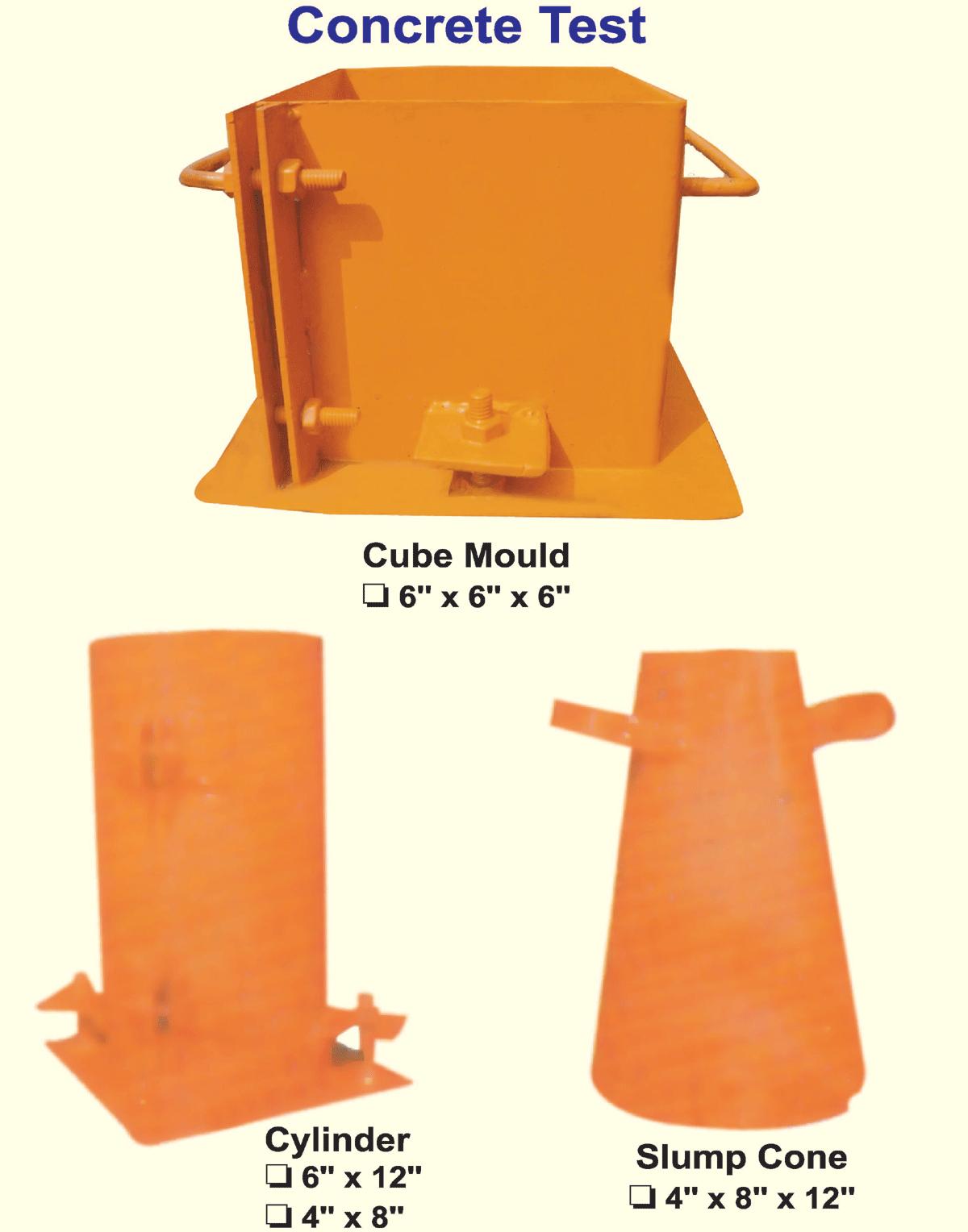 Concrete Test(Cube/Cylinder/Slump)