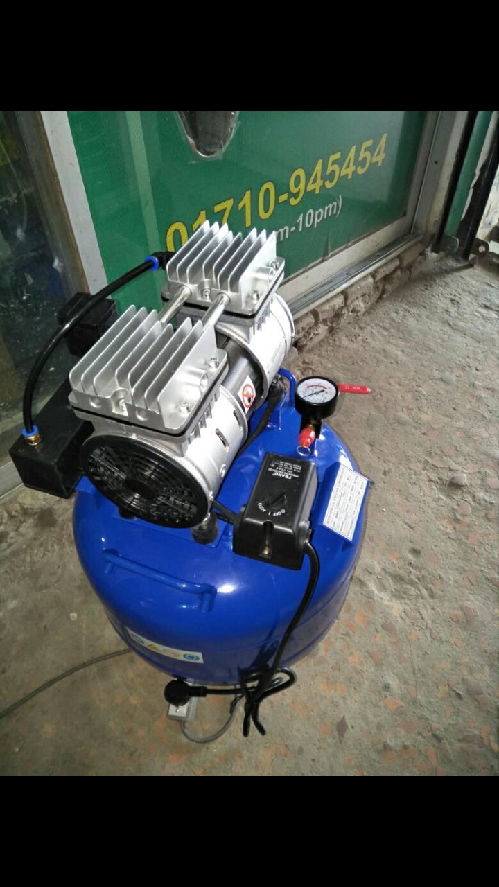 Dental soundless air compressor