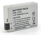 CANON LP-E8, LPE8 7.4v Lithium Ion Replacement Battery