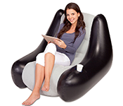 Bestway Inflatable Blow Up Waterproof Chair Sofa Bean Bag Seat