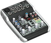 Premium 5 Input 2 Bus Mixer with XENYX Mic