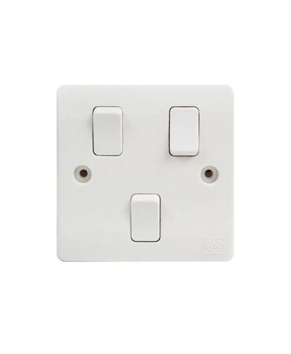 MK 3 Gang 1 Way Switch, Modular G 8873