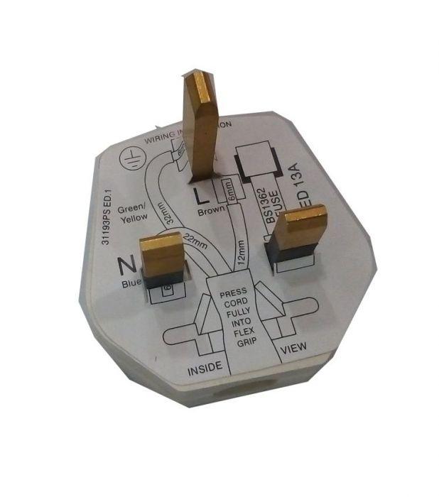 MK 3 Pin Plug, 13 AMP